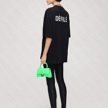 【WEEKEND】 BALENCIAGA Defile 巴黎世家 寬鬆版 短袖 上衣 T恤 黑色 21春夏