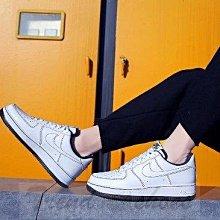 Nike Air Force 1 AF1 經典 復古 低幫 縫線 黑白 百搭 運動 滑板鞋CV1724-104 男鞋