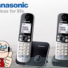 【6小時出貨】Panasonic DECT 中文大字體數位無線電話 KX-TG6812TW 雙手機組|中文操作顯示