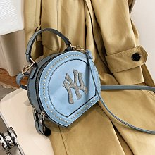 預購款-PU女包新款簡約圓形包NY包手提包韓版時尚單肩斜挎包