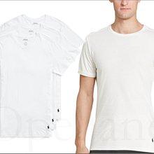 Polo Ralph Lauren 男內著純棉 小馬白色三件一組短袖短T短上衣合身版S M L XL號 愛Coach包包