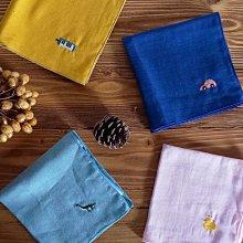 MH選物室 京都【ハンカチベーカリー】 日本製 動物 恐龍 汽車 鴨子 樂器 刺繡 手帕