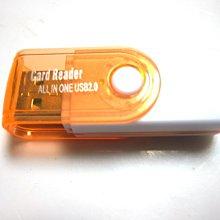 旋轉讀卡器多功能4合1多功能讀卡器 TF讀卡器 2.0高速迷你讀卡器