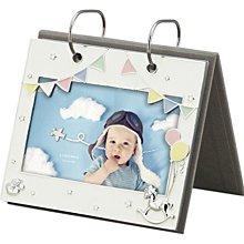 日本Ladonna Baby系列 純真夢想 4x6金屬白色直立翻閱式桌上型相本相簿相冊/ AMB98-P