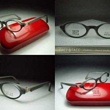 信義計劃 眼鏡 全新真品 FACE a FACE 光學眼鏡 法國製 手工眼鏡 雙層立體綠茶色膠框 eyeglasses