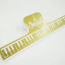 【老羊樂器店】樂譜夾 量尺 夾子 大譜夾 長譜夾 萬用夾 樂器圖案 鋼琴