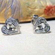【艾琳珠寶藝術】天然鑽石耳環,幸運草葉,純手工訂製,2017七夕情人節訂製款--特價