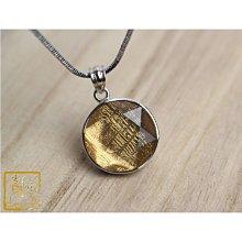 鎳鐵隕石-天鐵大衛星項鍊15mm(金) 強大能量 【吉祥水晶專賣店】編號S38