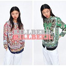 KillBeer:波希米亞嬉皮風之 歐美復古華麗巴洛克圖騰拼接設計感垂墜率性襯衫上衣061708
