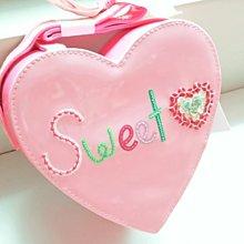 (((最後出清!!))) 全新 ~ GYMBOREE 粉紅愛心 Sweet亮片 手提包