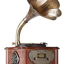 留聲機(美國LuguLake電唱機復古轉盤),適用於LP的多合一老式留聲機