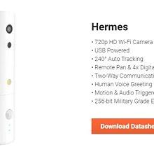 Hermes  百萬畫數  Wi-Fi (2.4G) 802.11 b/g/n  240度 轉向  Amaryllo