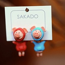 925純銀耳環-阪堂SAKADO-軟陶+純銀  來圖訂製