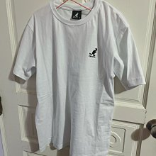 Kangol 刺繡小袋鼠 白 棉t t恤上衣 全新轉賣 原價$1080