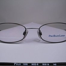 【信義計劃眼鏡】全新真品 POLO RALPH LAUREN 眼鏡 1005 彈簧 RL 超輕橢圓金屬框 可配高度數小框