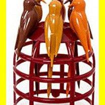 現貨《iSFun》垂掛鳥籠~創意水果叉子