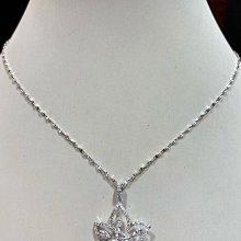 1.45克拉天然鑽石項鍊,超美立體花朵設計,香港金工設計款式,鑽石白又閃,超值優惠價96800元,主鑽72分重八心八箭完美車工,加送14K金項鍊