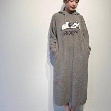 G424 軟綿綿 SNOOPY史努比 連帽長袖洋裝 居家服 休閒服 睡衣  Gelato pique