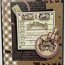 貝登堡印章 ~ C章(CT-1491)戴眼鏡的貓