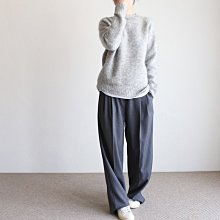 girlmonster 正韓 前片打摺口袋休閒西裝褲 (灰色/黑色)【A0653】