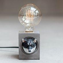 【曙muse】卡哇伊柴犬水泥方  造型桌燈 客製化 質感 送禮 交換禮物 居家小物 室內擺飾 動物造型 寵物造型  原木