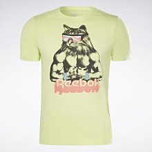 南◇2021 4月 Reebok GRITTY KITTY 貓短TEE 訓練健身重訓 白色GI8392 黃色GI8393
