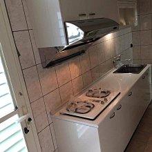 名雅歐化廚具220公分美耐檯面+上櫃F1木心桶身+下櫃F1木心桶身+四面封美耐門板+喜特麗三機