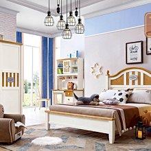 【大熊傢俱】HEH F615 兒童床 青少年床組 單人加大 雙人床 兒童實木床組 另售書桌 衣櫃 床頭櫃