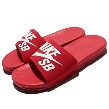【QUEST】現貨 NIKE BENASSI SOLARSOFT SB 拖鞋 紅白 840067 601
