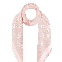 LV粉色絲+羊毛圍巾/方巾/披巾
