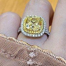 實驗室黃鑽金鵝黃鑽石珠寶首飾925純銀包白金戒指微鑲主鑽4克拉高碳鑽石肉眼看是真鑽超低價鉑金質感可通過測鑽莫桑鑽寶特價優惠