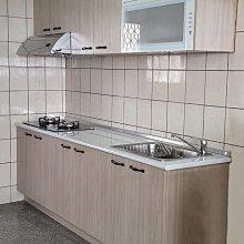 安心成家200cm系統廚櫃美耐檯面/木芯桶身/美耐門板21900起