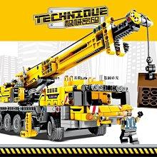 【新品上市】積木機械工程系列挖掘機吊車兼容樂高拼裝玩具兒童益智男孩子10歲