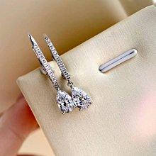 現貨-CVD水滴形鑽石耳環