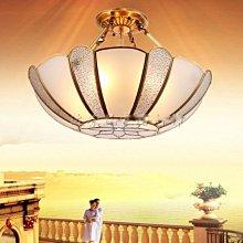 5Cgo【燈藝師】含稅會員有優惠 43848996095 全銅歐式奢華銅燈巴洛克風格半吊燈純銅臥室半吸頂燈純銅燈飾不掉色