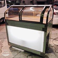 全新 4尺1冷藏展示台 / 雙門對拉玻璃 / 左下冷凍 右下冷藏冰箱 純白鐵304