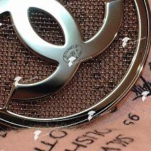 chanel胸針 LOGO鏤空胸針別針(尺寸4.5)銀色