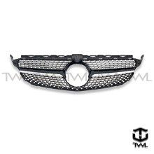 《※台灣之光※》全新 BENZ W205 C180 C250 C43 C450樣式高品質5顆星滿天星鑽石型大星黑色水箱罩