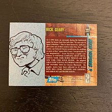 1994 TOPPS Rick Geary美國漫畫家插圖畫家Star Wars Galaxy 親筆簽名 收藏卡 卡片