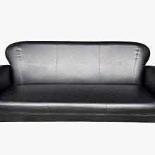 【宏品二手家具館】中古傢俱 EA304CC*全新小丸子3人黑色皮沙發*全新 庫存 中古 家具買賣 客廳家具 沙發茶几