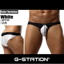 G-STATION 日本設計.【JZ08_】【S.M.L.XL號】拉絲 窄邊 超低腰男三角內褲底褲.Jn男潮內著