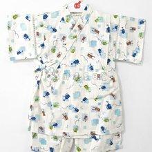 ✪胖達屋日貨✪褲款 100cm 白底 獨角仙 蜻蜓 方格 日本製 男 寶寶 兒童 和服 浴衣 甚平 抓周 收涎 攝影