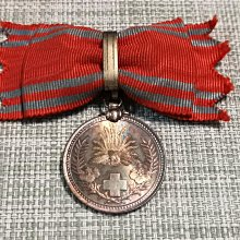 明治21年 赤十字女子社員,紀念銀章 盒裝