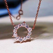 【艾琳珠寶藝術】天然鑽石0.66克拉鑽墜,18k(750),玫瑰金,似HEARTS ON FIRE 日蝕款