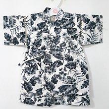 ✪胖達屋日貨✪褲款 100cm 白底 植物風 日本 男 寶寶 兒童 和服 浴衣 甚平 抓周 收涎 攝影