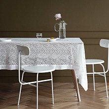 MOK 北歐風雅致浪漫唯美精緻蕾絲繡花桌布桌巾 野餐桌布 背景布 拍攝道具 147*180