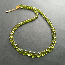 ☆采鑫天然寶石☆ **攬翠**~珠寶級橄欖石心形項鍊~濃綠亮彩~極美珍藏
