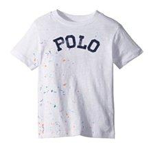 【Polo Ralph Lauren】RL 大男童 短袖T恤 潑墨漸層 印染POLO 純棉圓領短t 白色