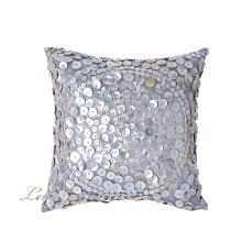【La Romance 芮洛蔓】Enos 系列貝殼光亮銀灰色抱枕 (小)  / 腰枕 / 靠枕 / 靠墊
