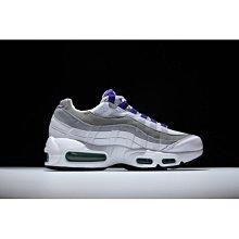 Nike Air Max 95 OG 白 灰 氣墊  紫 男 女 307960-101 潮流 情侶慢跑鞋